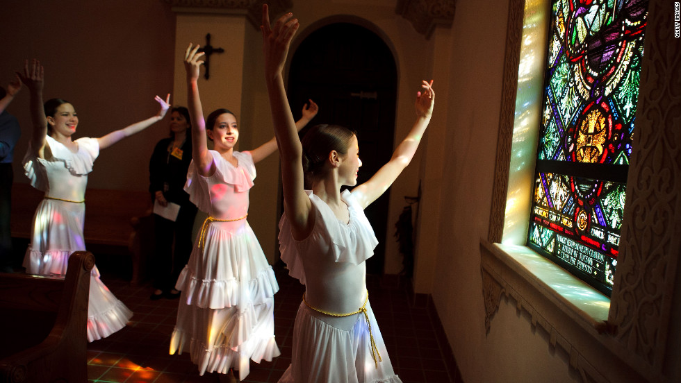Members of the Tucson Dance Academy perform at St. Augustine Cathedral on Sunday.