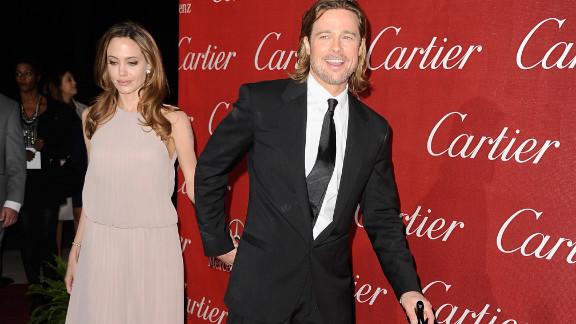 Angelina Jolie and Brad Pitt attend the Palm Springs Film Festival awards gala.