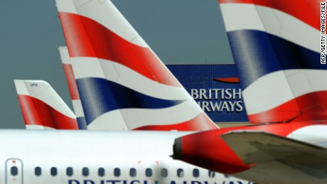 "British Airways is ""taking this matter extremely seriously"" and assisting police, an airline spokesman says."