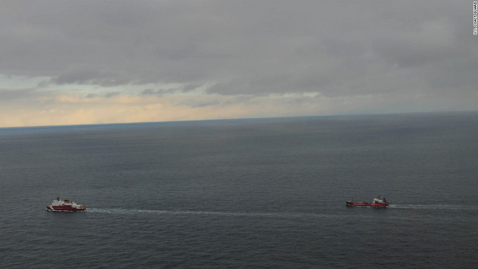 The Healy crew escorts the tanker Renda and crew from Dutch Harbor, Alaska, on Thursday, January 5.