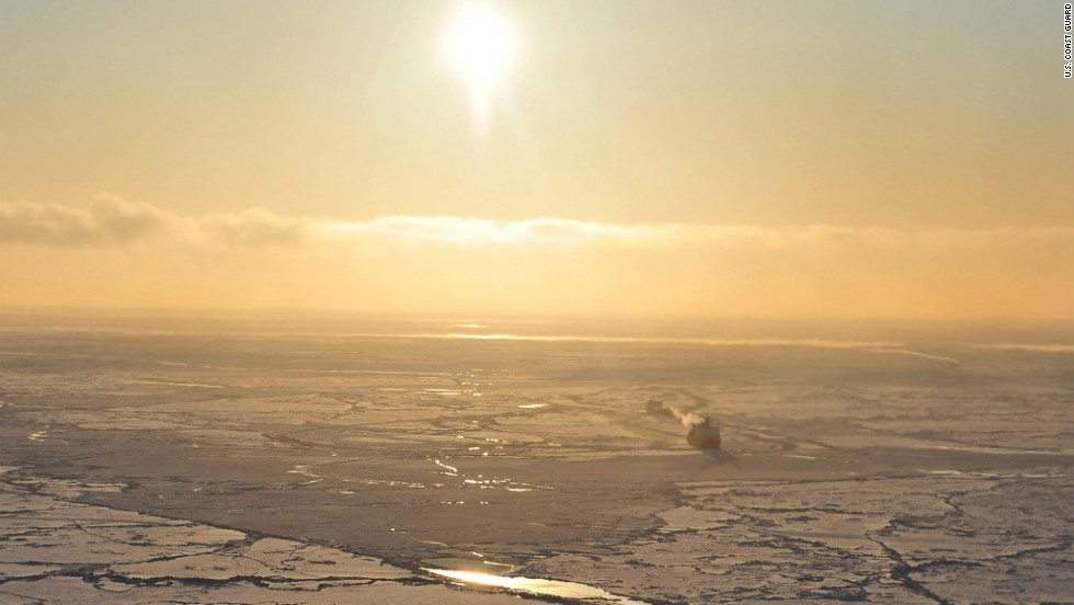 The U.S. Coast Guard's only icebreaker, the cutter Healy, is leading the fuel tanker through the ice-covered waters in the first-ever attempt to supply fuel to an Arctic Alaska settlement through sea ice.