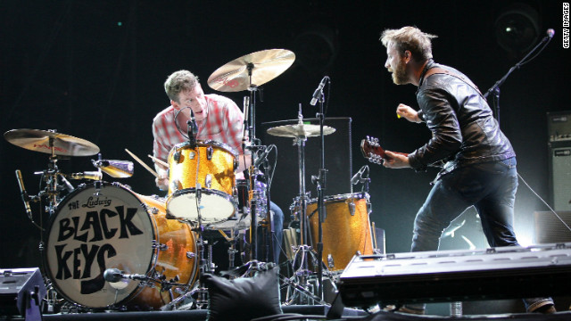 The Black Keys performing at the 2011 Coachella Music Festival in Indio, California.