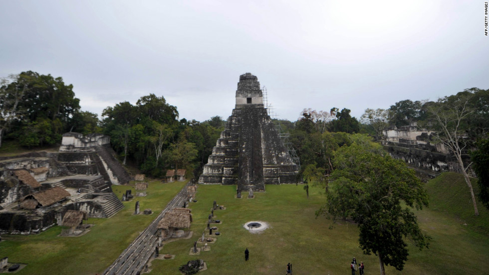 Magnificent temples can be seen at locations across Latin America, such as here, at the Tikal archaeological site in Guatemala.