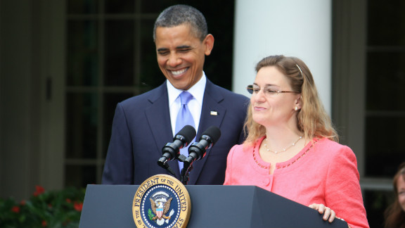 President Obama honors the 2011 Teacher of the Year, Michelle Shearer, in a Rose Garden ceremony.