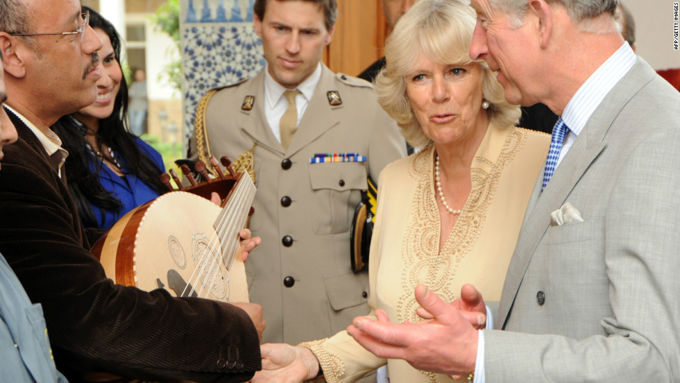 Prince Charles and Camilla were presented with a lute during a visit to Morocco in April 2011. On the same trip they were also given a camel saddle, a velvet cape, a coffee table and a ceremonial dagger.