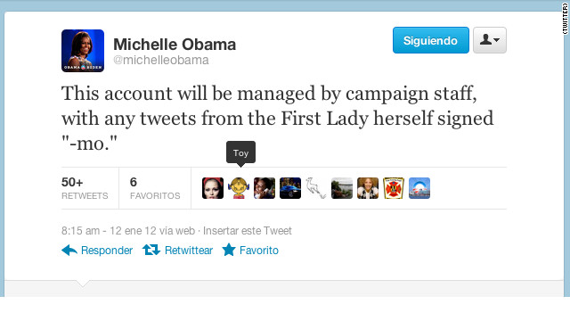 Michelle Obama launches Twitter account