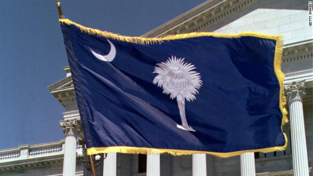 The flag of the beautiful and, according to John Avlon, complex state of South Carolina.