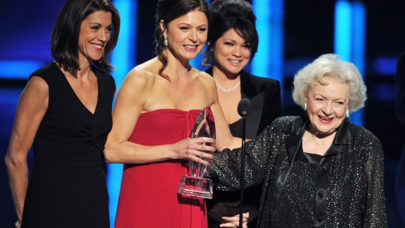 """On stage with her costars from """"Hot in Cleveland,"""" Betty White told the crowd, """"I haven"""