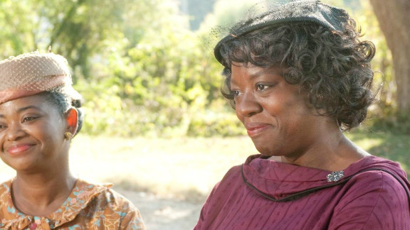 """Viola Davis, right, shown with Octavia Spencer, was nominated for a Best Actress Academy Award  for her role in  """"The Help."""""""