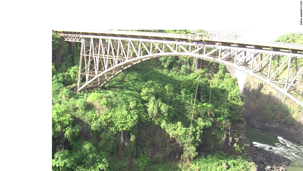 You can take a steam train across historic Victoria Falls bridge.
