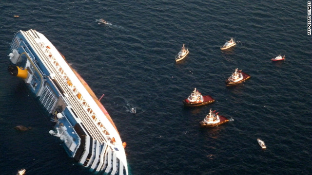 According to passengers' accounts on board the Costa Concordia, crew members were hard to find when the ship began to list.