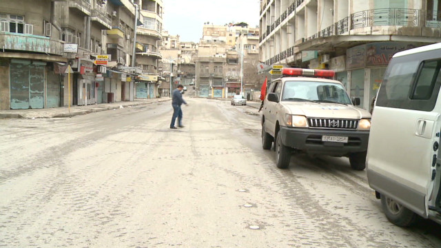 Empty streets and tension in Hama, Syria