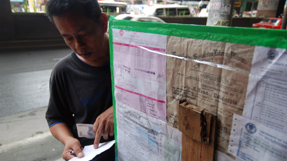 Fake official documents can be bought off the street in Manila for as little as 500 pesos (US$11)