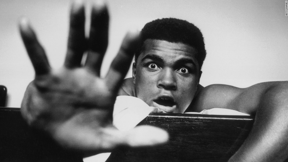 Ali boldly predicted how many rounds it would take him to knock out British boxer Henry Cooper ahead of their bout in London in 1963. The fight was stopped in the fifth round as Cooper was bleeding heavily from a cut around his eye and Ali was declared the winner. Cooper died in May 2011.