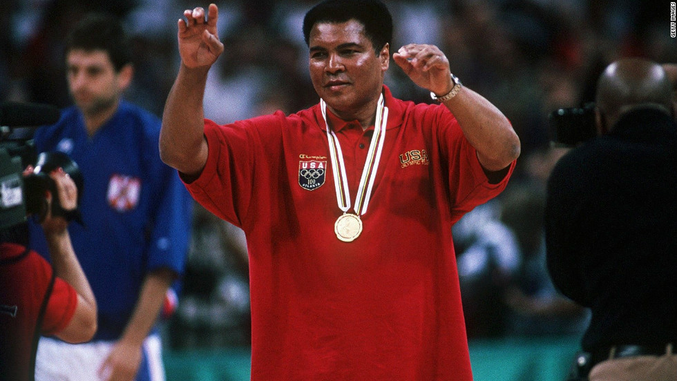 In addition to lighting the flame, Ali also received a replacement gold medal for the one he had won 36 years earlier. Ali tossed the original into the Ohio River after being refused entry to a restaurant.
