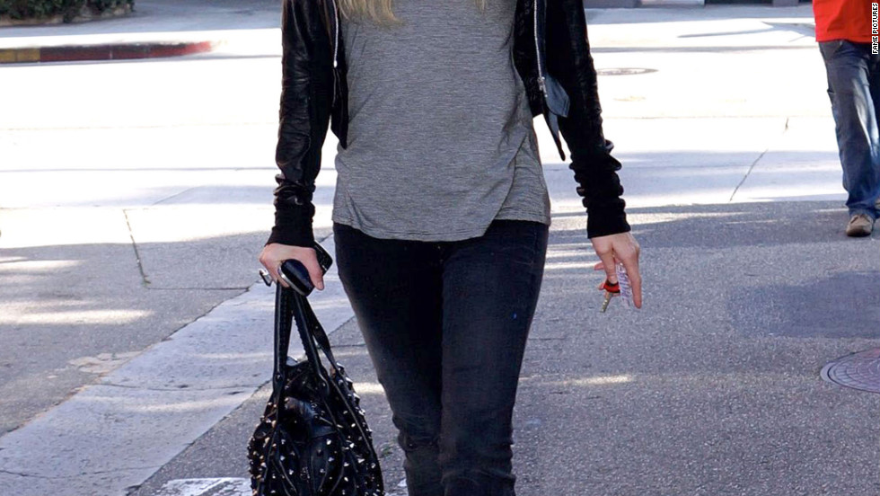 Paris Hilton goes to a spa in Beverly Hills.