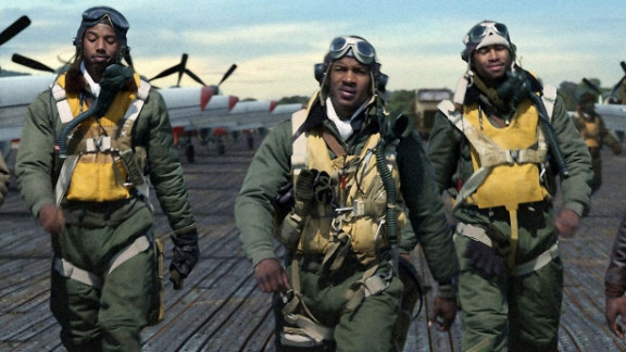 """Red Tails"" is about the very first African-American military pilots, who served in segregated units during World War II."