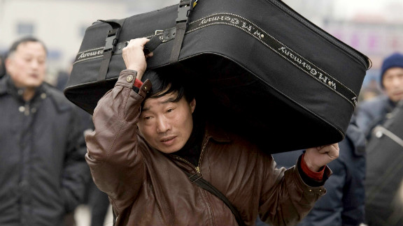 China's rapid economic growth has encouraged millions of people to move into cities from rural areas.