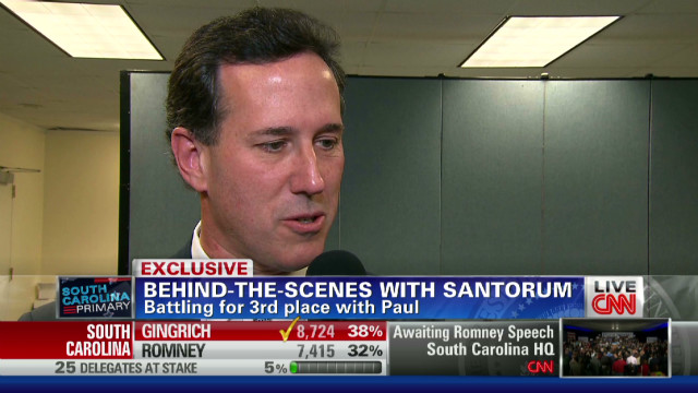 Santorum: Newt 'kicked butt' in S.C.