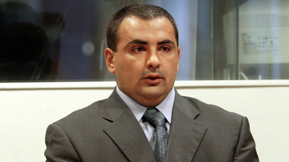 Radovan Stankovic, a Bosnian Serb ex-paramilitary seen here in a July 2002 file photo, escaped from a Bosnian prison in 2007.
