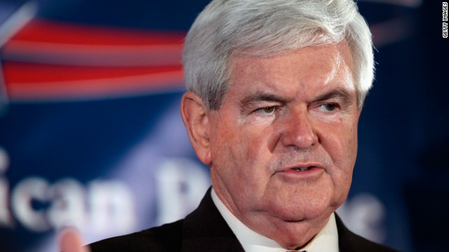 Republican presidential candidate Newt Gingrich speaks during a primary night rally Saturday in Columbia, South Carolina.