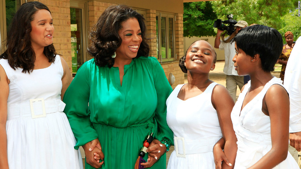 The TV presenter set up the Oprah Winfrey Leadership Academy for Girls to provide world-class high school education to underprivileged girls.
