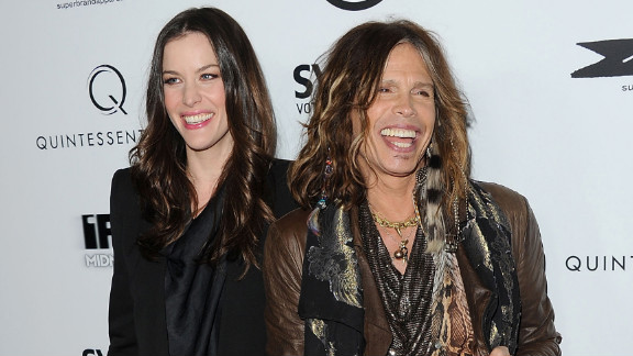 Liv Tyler and her father Steven Tyler, shown here attending a premiere in March 2011.