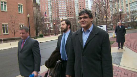 Former CIA officer John Kiriakou leaves court in January.