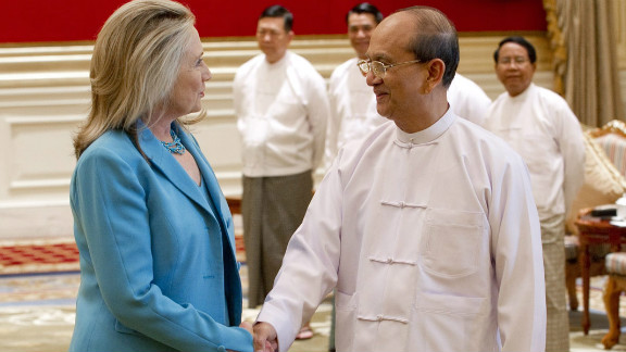 U.S. Secretary of State Hillary Clinton visit with President Thein Sein was in recognition of Myanmar's reforms.