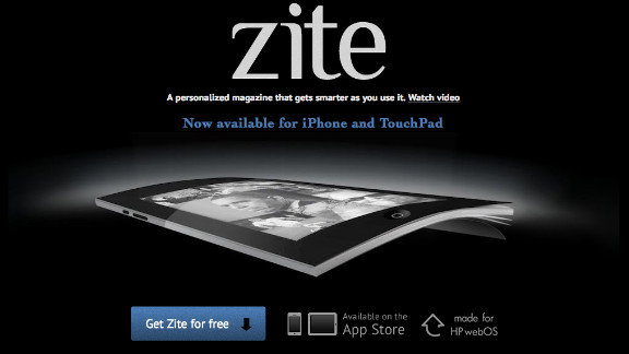 Zite customizes news sites to create a personalized digital magazine.