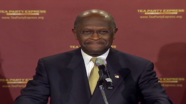 Cain offers Tea Party response to Obama