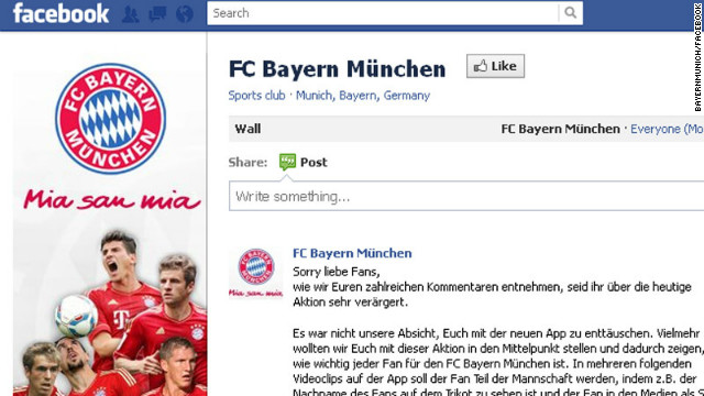 Bayern Munich's new signing infuriated fans when it turned out to be a marketing tool for their Facebook page.