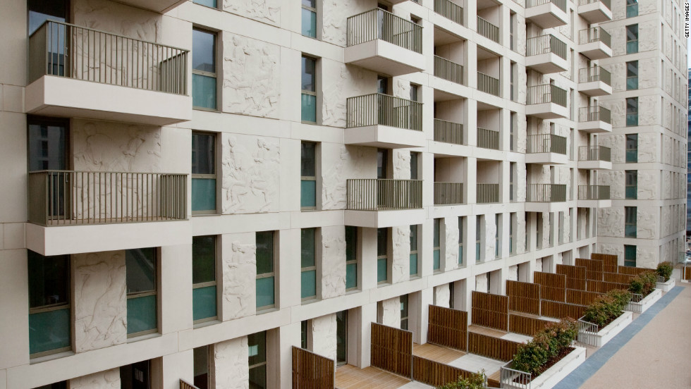 This picture, released by the Olympic Delivery Authority, offers a glimpse of what lies within the grounds of the purpose-built accomodation, which consists of 2,800 apartments.