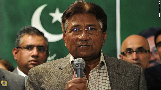 Former Pakistani President Pervez Musharraf speaks s during a press conference in London on January 19, 2012.