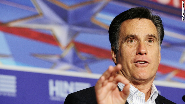 GOP presidential candidate Mitt Romney spoke to the Hispanic Leadership Network in Miami, Florida, on Friday.