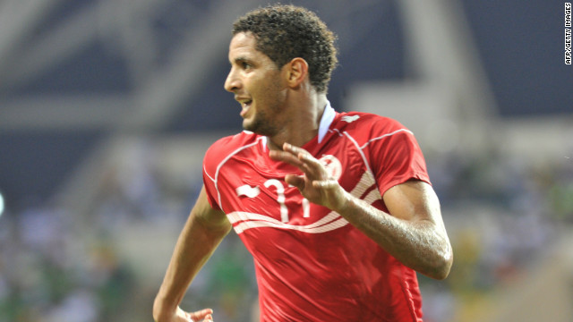 Tunisia's Issam Jemaa celebrates his winning goal as his side beat Niger in the Africa Cup of Nations.