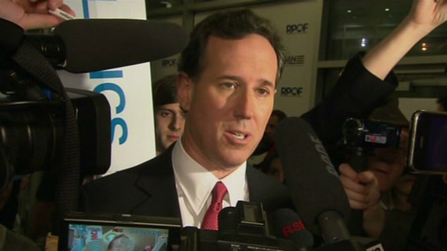 Santorum speaks about Florida debate