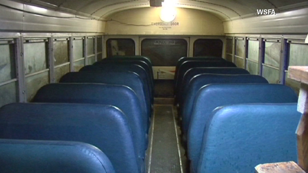 School bus made into storm shelter A community in Alabama