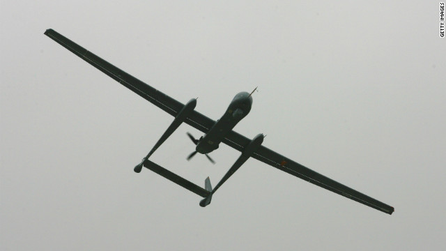 The Israeli drone aircraft, the Eitan, is pictured in February 2010.