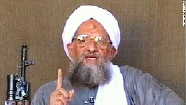This file photo shows Al Qaeda leader Ayman al-Zawahiri, who purportedly posted an audio message about Egypt.