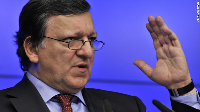 European Commission President Jose Manuel Barroso on January 30, 2012 in Brussels