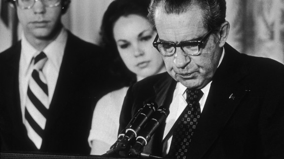 A cover-up led to President Richard Nixon