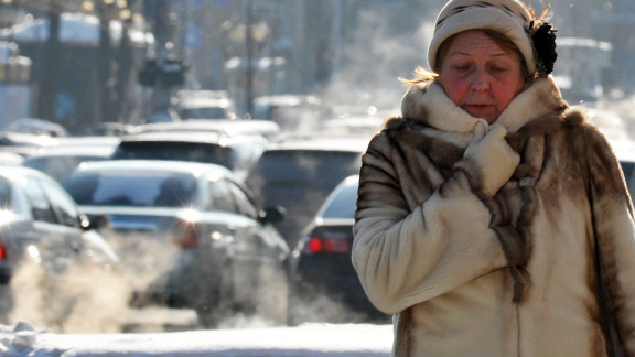 In the Ukrainian capital of Kiev, temperatures dropped to -22 degrees Celsius (-8 degrees Fahrenheit) on Wednesday. The cold temperatures were blamed for at least 31 deaths in the country.