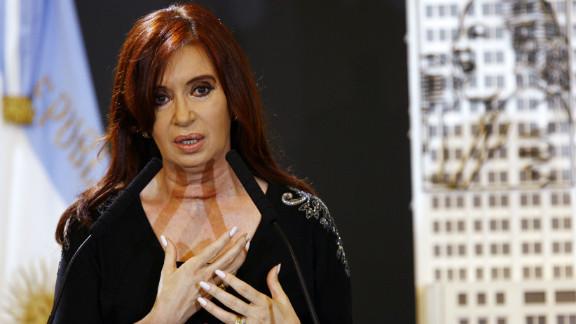 Argentinian President Cristina Fernandez de Kirchner has asserted her country