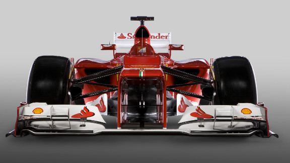 Ferrari unveiled the F2012 Friday, their car for the forthcoming Formula One season. The Italian team had planned to reveal the car Thursday, but heavy snowfall around the team