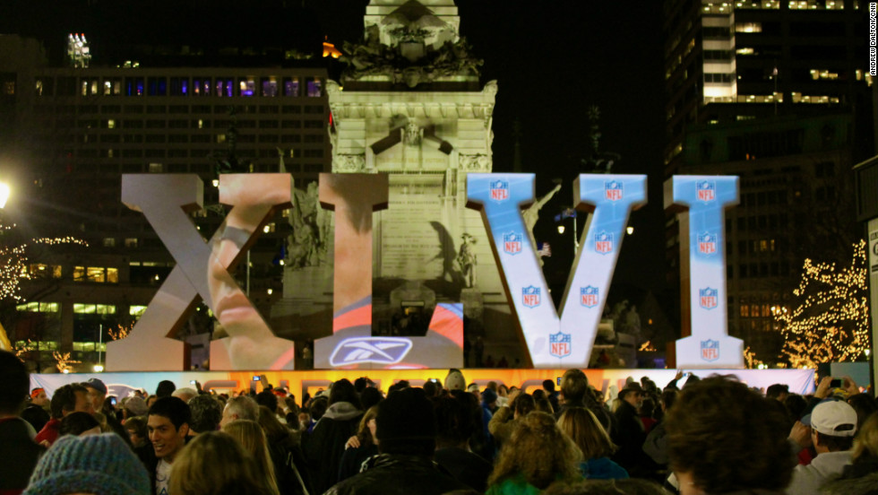 Super Bowl XLVI has attracted vast interest in the host city of Indianapolis.