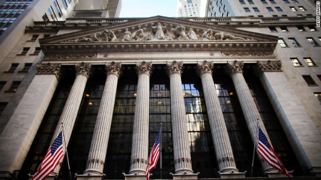 NEW YORK, NY - FEBRUARY 03: The front of the New York Stock Exchange is viewed on February 3, 2012 in New York City. Following a positive report on U.S. employment numbers, the Dow Jones industrial average jumped more than 140 points in afternoon trading. (Photo by Spencer Platt/Getty Images)