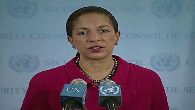 Rice: We won't turn our backs on Syrians