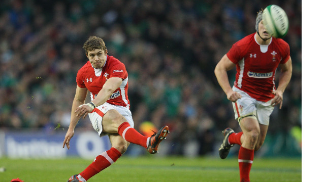 Leigh Halfpenny kicks the last minute penalty that gives Wales a narrow victory in Dublin.