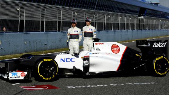 Swiss team Sauber revealed the new C31 on Monday, with Japanese driver Kamui Kobayashi and Mexico